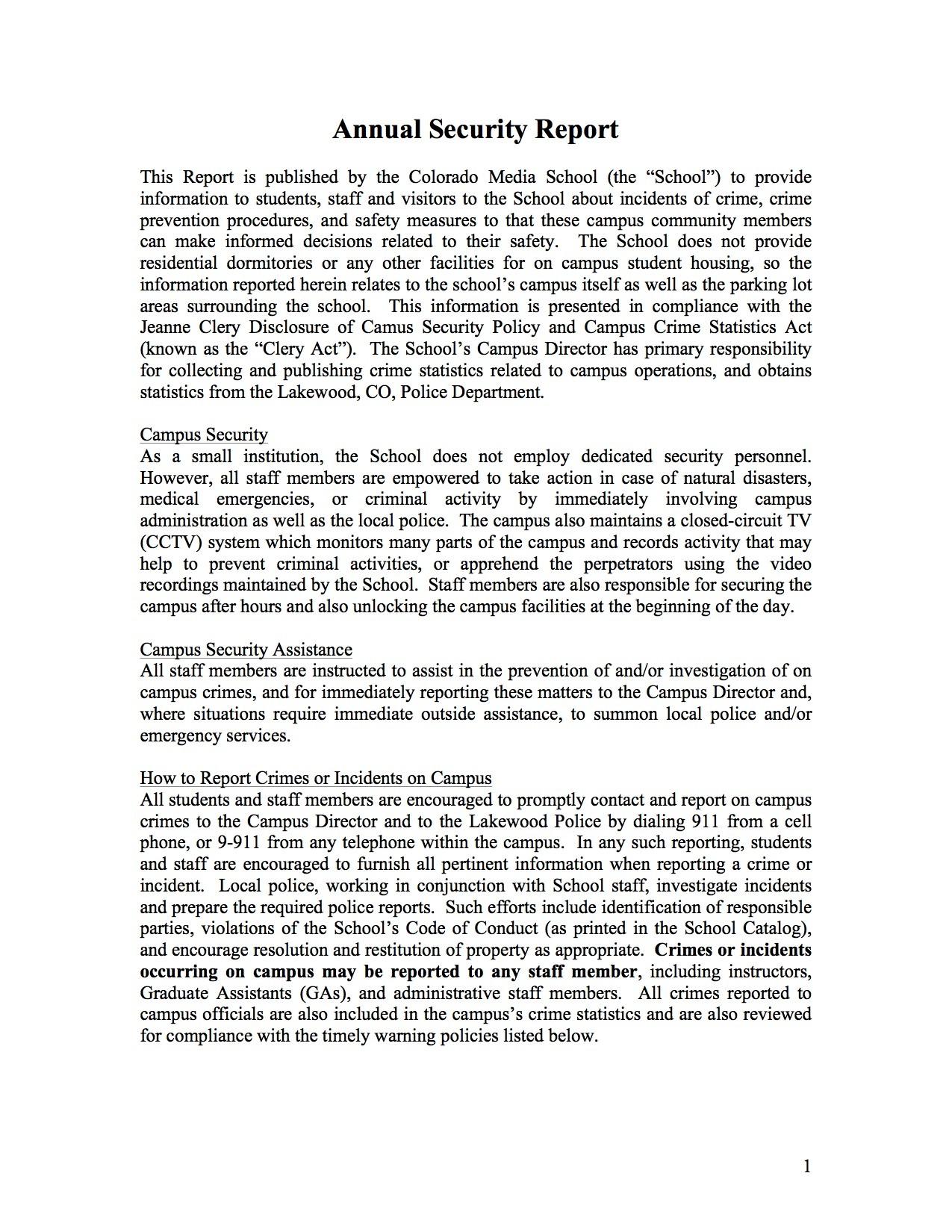 Annual-Security-Report-2014-Colorado