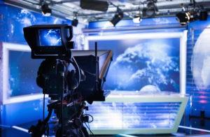 Video Camera In TV Broadcasting Studio