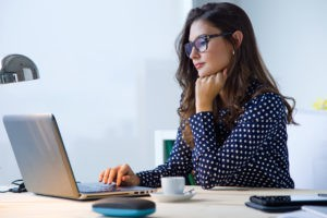 woman working on social media strategy